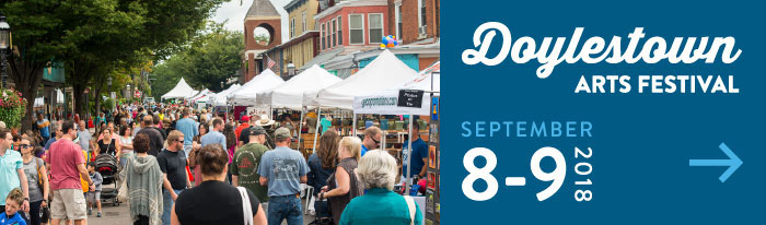 This September 8th & 9th, the Doylestown Arts Festival returns for its 27th anniversary. Featuring 160 juried artists, live music on 5 stages, local food vendors, live art, and interactive demonstrations, the festival is a great experience for all ages! Free to attend, rain or shine, the Doylestown Arts Festival is one of the largest and most celebrated arts festivals in the region.