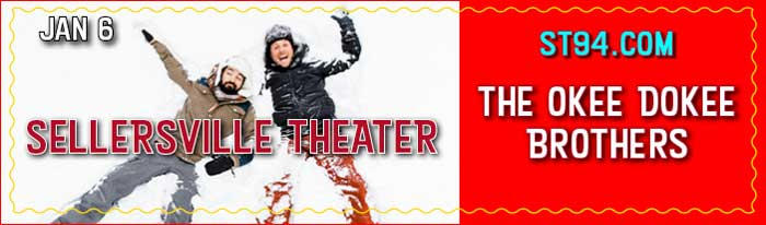 The Sellersville Theater is excited to be bringing a brand new family act to our stage! Justin Lansing and Joe Mailander have been exploring the outdoors together since they were kids. Now, as the Grammy winning Okee Dokee Brothers, they write songs to encourage kids and families to get outside and get creative. This winter they'll stop by Sellersville to break you out of cabin fever and share songs from their new album Winterland, a tribute to the season of coziness, family time and outdoor fun! The Okee Dokee Brothers make room for kids to dance, for parents to share stories and for everyone to gain respect for nature, each other and the world we live in.