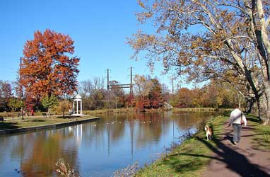 Delaware Canal State Park in Bristol, Pennsylvania, just off Jefferson Street.